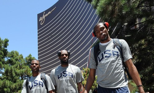 nba:   July 8, 2012: USA Basketball Training Camp in Las Vegas. (Photo by Andrew D. Bernstein/NBAE via Getty Images)