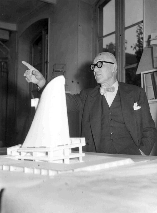 © le corbusier - model of the church saint pierre - firminy, france