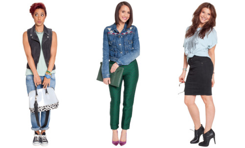 31 denim outfit ideas, modeled by Glamour editors
