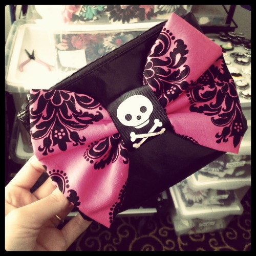 Black Vinyl Cosmetic Purse with Giant Bow $15.00 Will be available July 13-15th at the Timeless Ink Tour Tattoo Convention at the Phoenix Convention Center
