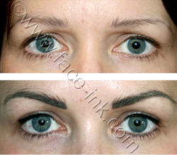 POWER BROWS & LATINA EYELINER Created using permanent makeup nouveau contour pigments in pharao, tuscany, choc choc and black is black.