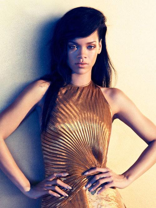 Rihanna photographed by Camilla Akrans for Harper's Bazaar, Fall 2012
