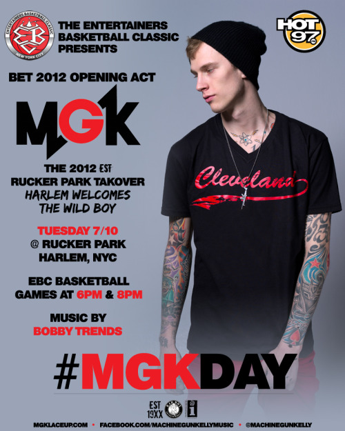 MGK x Hot 97 Live at the Rucker this Tuesday!!!! FREE!!!