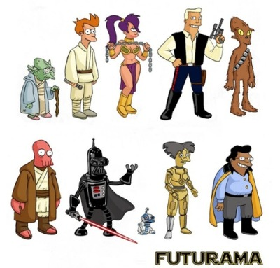 Futurama and Star Wars together … at last.