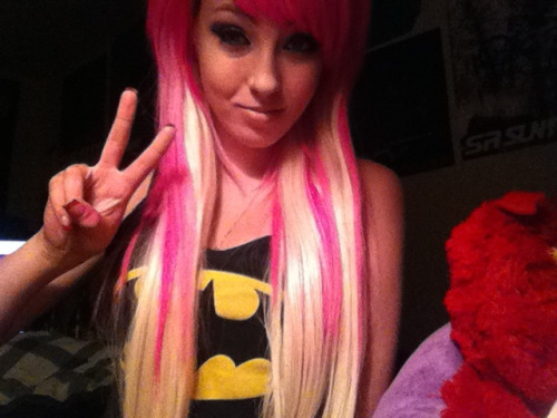 When I had pink hairrr