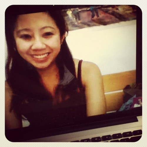 early morning skyping with Hanh :) #InstaSkype (Taken with Instagram at Marsh/Steph's Place)