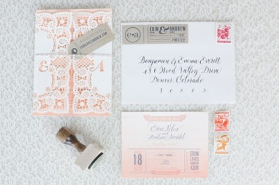 paperbagstationery:  (via Custom Wedding Invitation Ideas | Oh So Beautiful Paper)