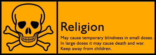 Religion warning label