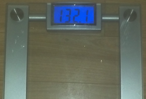Today's Weight: 132.1 lbs.Total Lost: 5.5 lbs.Hormones = Water Weight….that's all I have to say. I ate perfectly yesterday and know that I did everything I could to get to my goal. The 120's are seriously taunting me, but I want it and I'm going to get it!