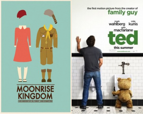 On Saturday, Keith Meatto saw Moonrise Kingdom and Ted in a high-low double feature.  Shockingly, there are 10 commonalities between the two strikingly different comedies. Read his exposition here.