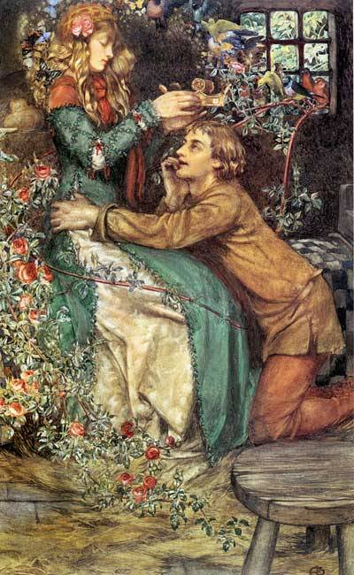 ART in Westeros Cersei and Jaime (Natural Magic - Eleanor Fortesque Brickdale)