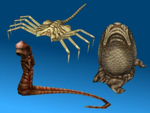 AvP Papercraft: Xenomorph Life Cycle