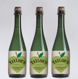 With its packaging designed by Ruth Pearson, Taylor's Cider Champagne is a seriously good looking beverage.
