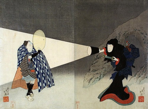 itwonlast:  The Kabuki Actors Iwai Shijaku I and Bando Jutaro (1832), Shunbaisai Hokuei