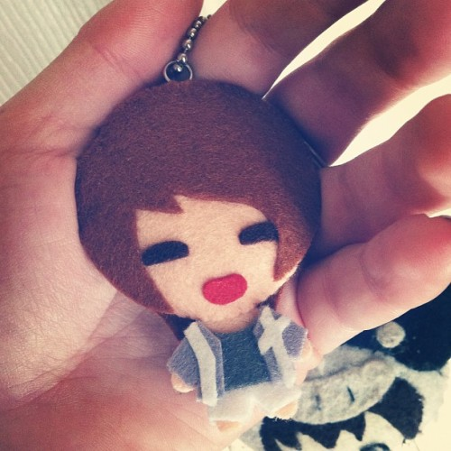 So cute! Added him to my key collection. Thanks Ann! #SHINee #Onew #Sherlock #keychain #온유 #샤이니  (Taken with Instagram)