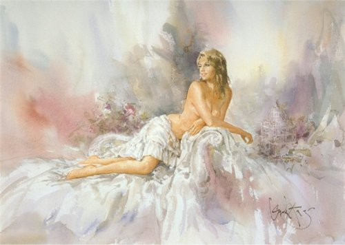 Art painting romantic sensual by Gordon King