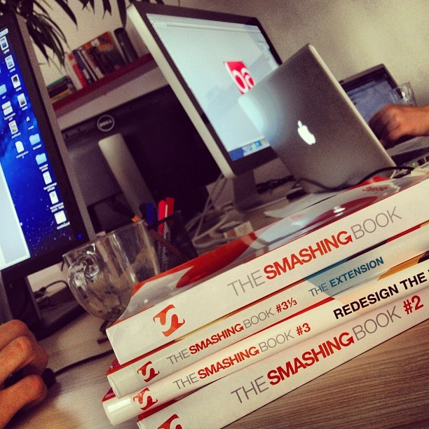 Smashing Books arrived #books #design #smashing (Taken with Instagram at Appricot HQ)