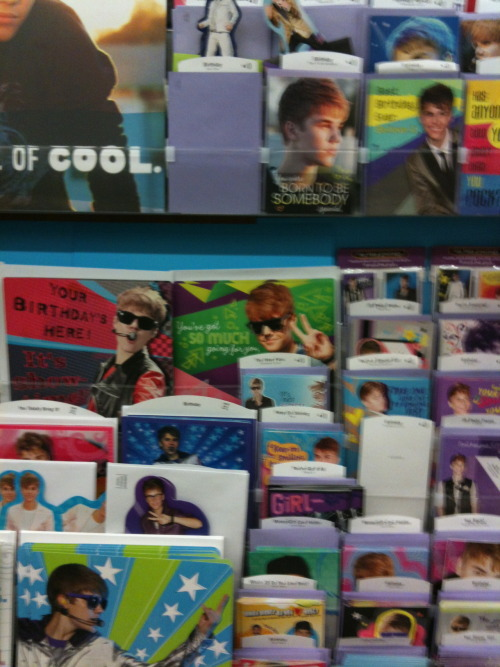 Did you know Justin Bieber has his own greeting cards? I didn't I bet he doesn't even know he did available at Walmart