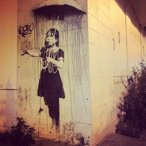 Banksy in New Orleans. (Taken with Instagram)