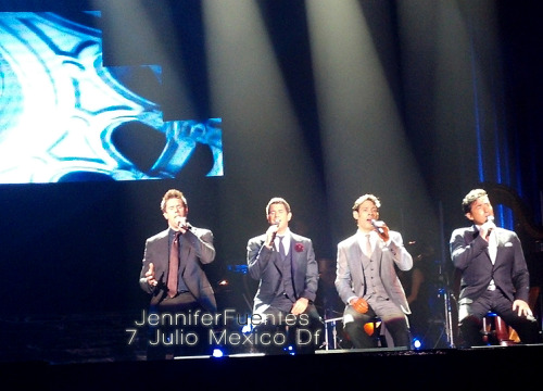 A wonderful night, Il Divo in México on July 7 :)