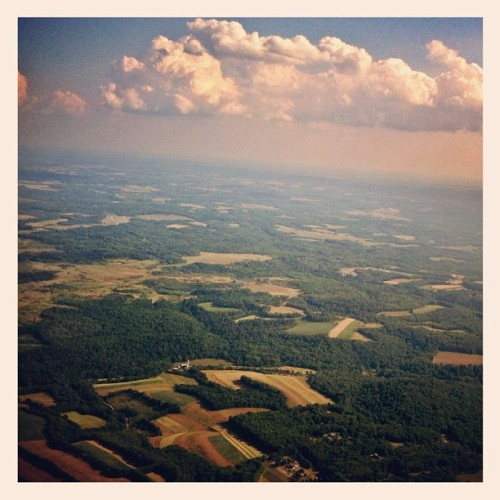 Over PA, flying back to CA. (Taken with Instagram)