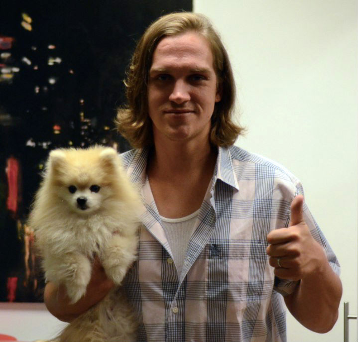 Jay and Silent Pom.Hanging out with my pal Jason Mewes from Jay and Silent Bob.