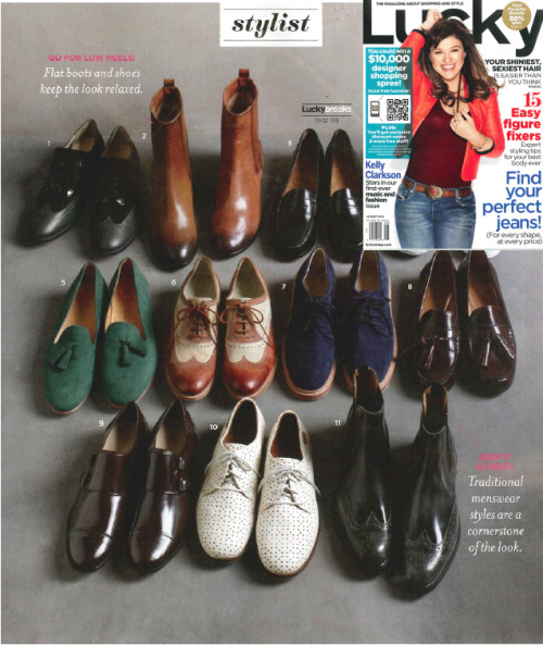 n.d.c. made by hand's Sunday Brogues Oxford looking great in Lucky Magazine's August Issue!