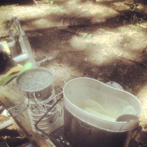 Bring to boil, then simmer. #2potsolution #campcooking (Taken with Instagram at Hal's Trail)
