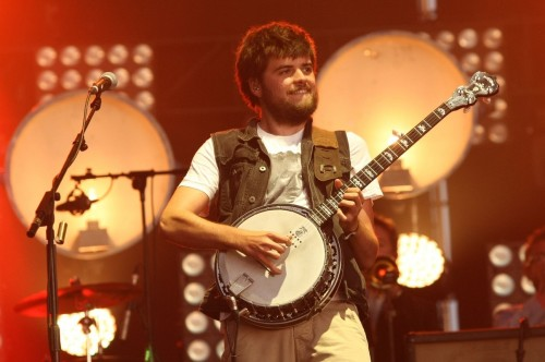 Winston Marshall of Mumford & Sons performs at Open'er Festival in Gdynia, Poland on July 7, 2012. Photo copyright Tomasz Bolt.