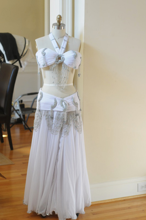 A Samia Gamal inspired belly dance costume.From: Audradance.com