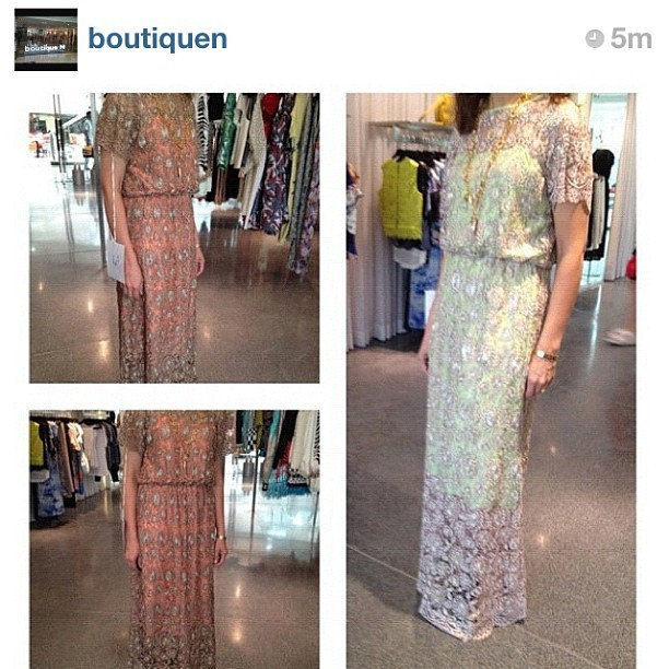 #threadsbyrazanalazzouni lace Maxi dress in @boutiquen in kuwait  (Taken with Instagram)