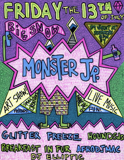 Kate Kosek's MONSTER PARTY this Friday, July 13th!Full details HERE