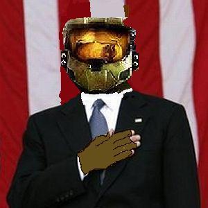 master chief for president….I made this when I was like 11…