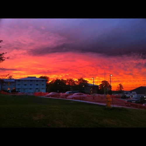 Found an old picture from freshman year… Missing Ithaca & its sunsets. #nofilter (Taken with Instagram at Boothroyd Hall)