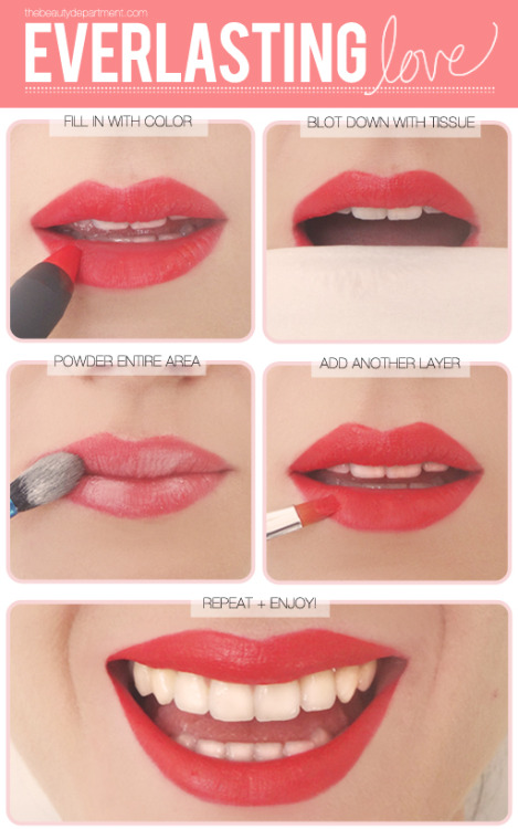 createthislookforless:  Long Lasting Lips!~