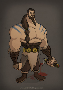 gameofthrones:  Khal Drogo from Game of Thrones by @jordi_villa