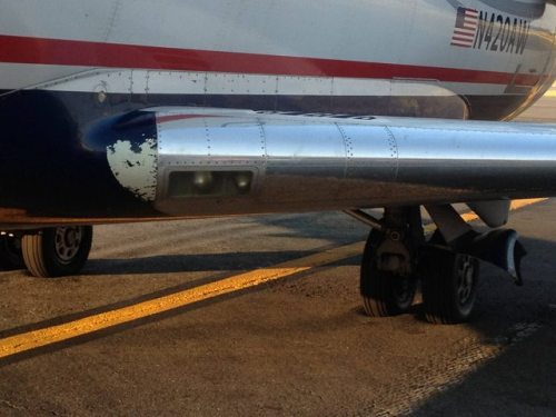 Jet sinks into hot tarmac at D.C. airportAs temperatures hit triple digits along the East Coast, an airport tarmac grew so hot that a passenger jet sank several inches into the pavement.