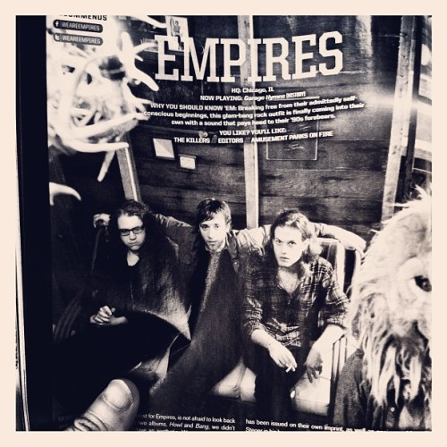 empires:  Empires are in the latest issue (August) of @AltPress (Taken with Instagram)