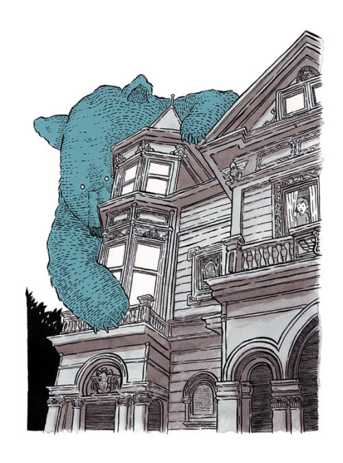 'The Giant Bear on Haight'   By Mat Pringle