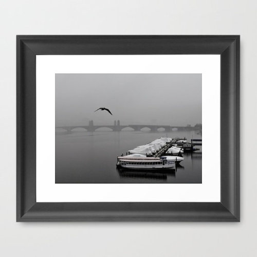 Charles River in The Fog by RubenAlexander. $36 Part of My Town Tuesdays