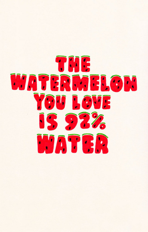 visualgraphic:  The watermelon you love