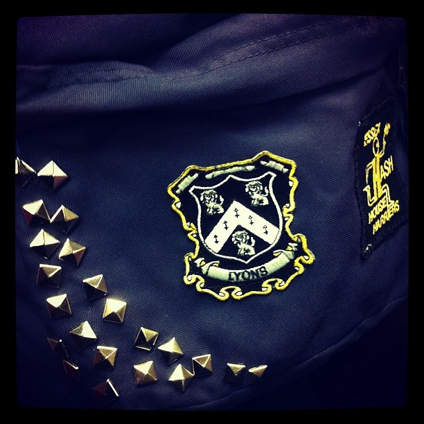 Got that family crest on my backpack now! (Taken with Instagram)