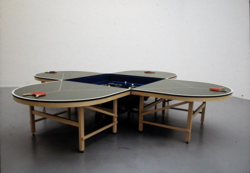 Gabriel Orozco Ping Pong Table  1998