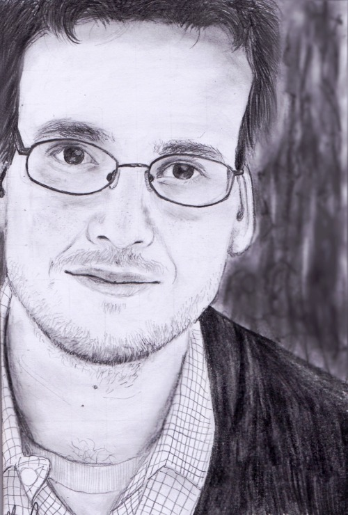 potterwholock:  John Green done in pencil. What a man.