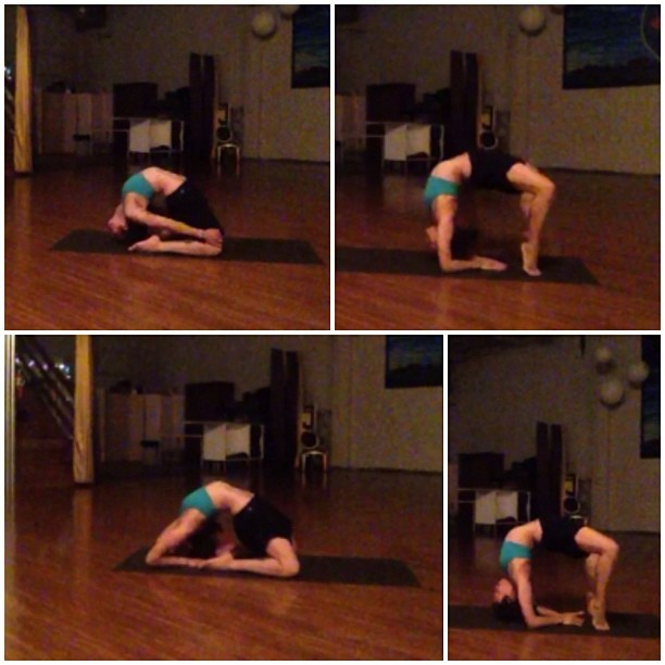 Stills from a time-lapse #yoga video I shot this morning. #backbends #asana (Taken with Instagram)