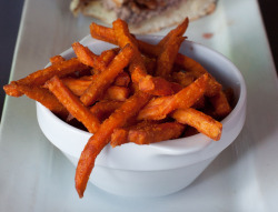 -foodporn:  Sweet Potato Fries by Edward Sargent