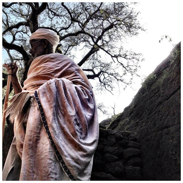 barrioflores:  Priest at Lalibela #ethiopia  (Taken with Instagram)
