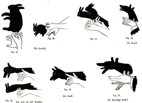 Handshadows, illustration from Silhouetten, 1923