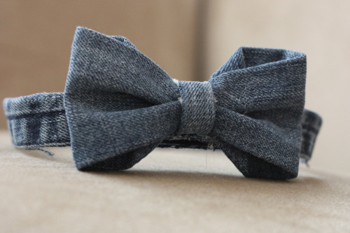 nvenegas:  DIY bow tie made from old jeans! -n.venegas
