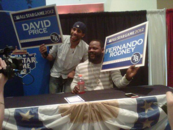 "musiquedevie:  ""#Rays‬ All-Stars @DAVIDprice14 and Rodney, having some fun at end of media session"""